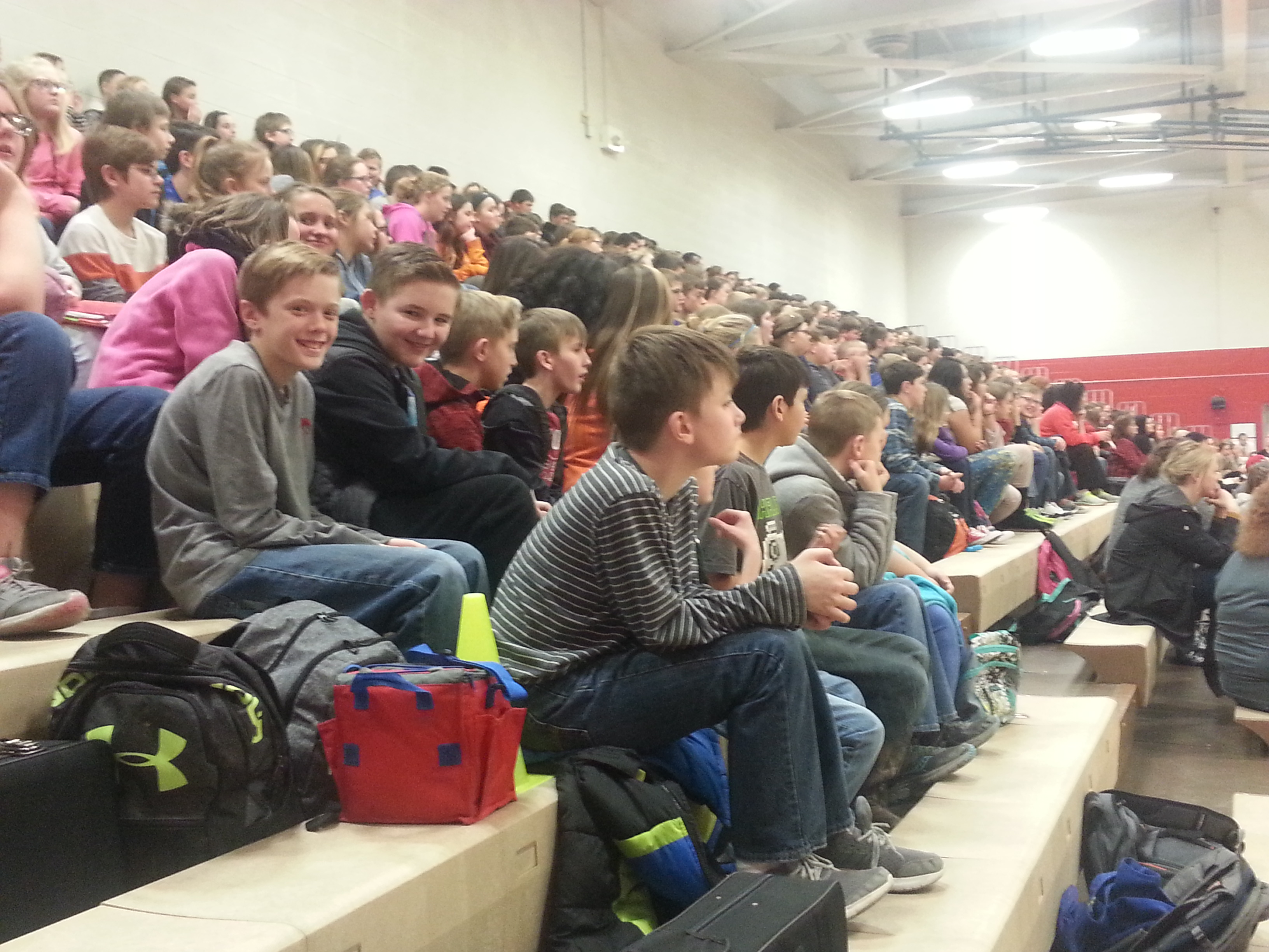 Students Enjoy ... the WMS Basketball Homecoming Pep Rally and Activities.  (01/08)