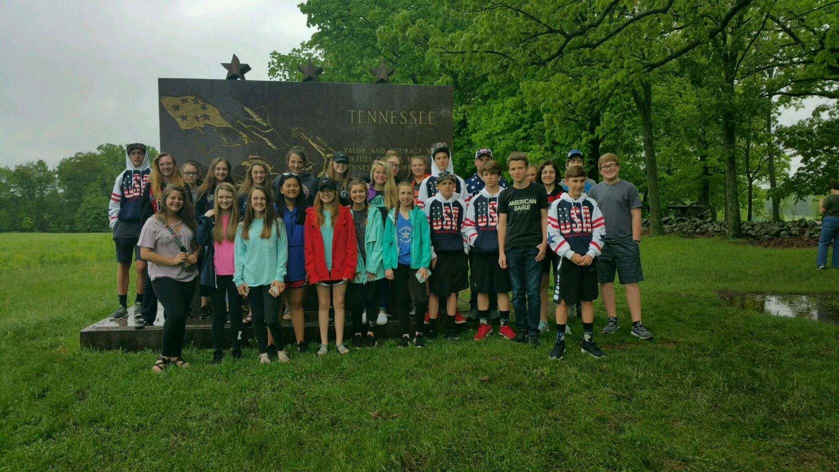 WMS Students On Their Way Home  ... after visiting Washington D. C. and Gettysburg.  (05/17)