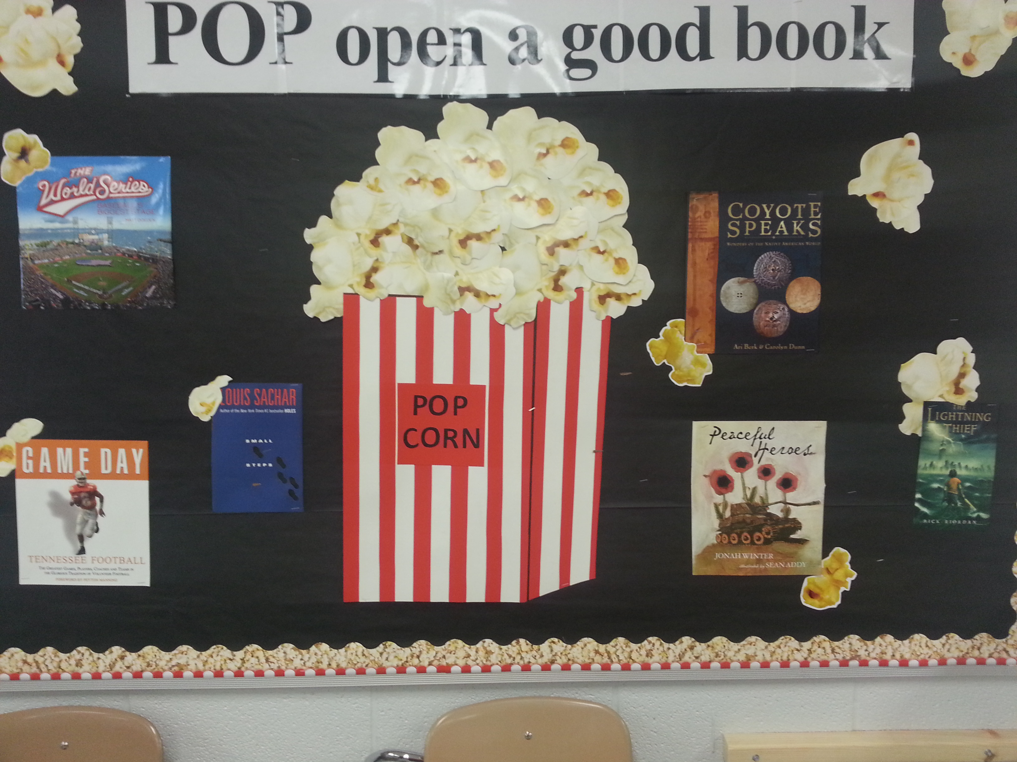 Read More ... while we are out of school, now is a very good time to read.  As a matter of fact, any time is a good time to read.  (The picture is a bulletin board in Mrs. Jean Carter's room.)  (01/05)