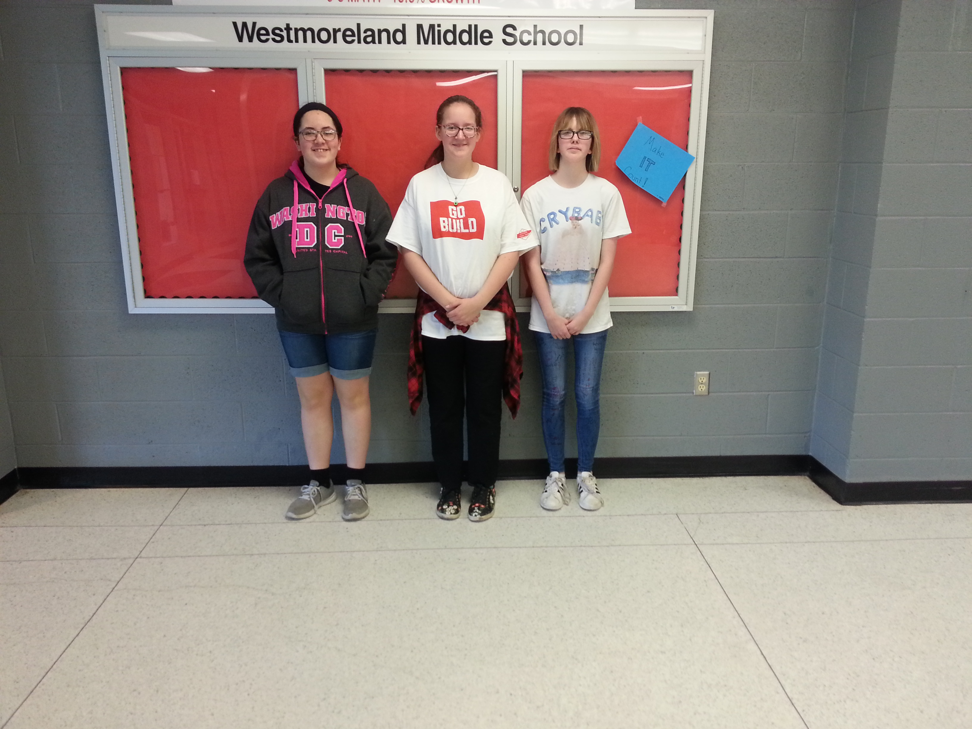 The WMS Band ... holds their 2nd Music Bowl.  Pictured are the top 3, 2nd, 1st, and 3rd.  (05/17)
