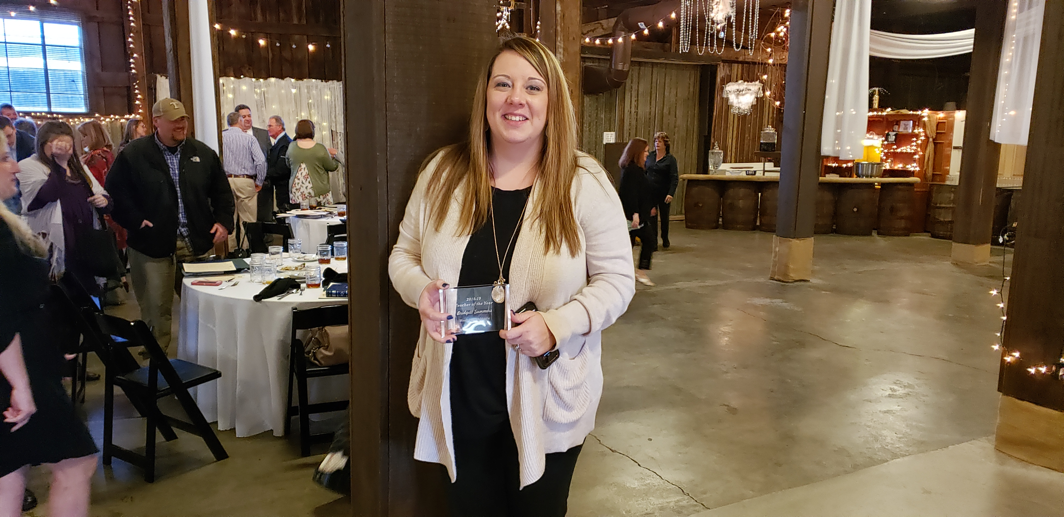 Mrs. Bridgett Summers ... is recognized as the Teacher of the Year for Westmoreland Middle School at the Teacher of the Luncheon held at the Epic Center in Gallatin.  (03/18)