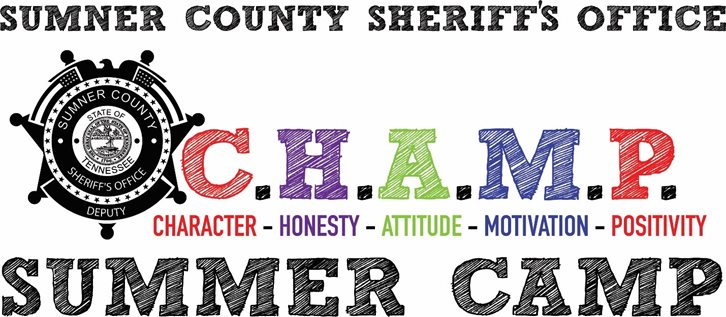 The Sumner County Sheriff's Office C.H.A.M.P. (Character, Honesty, Attitude, Motivation, Positivity) Camp is a week long summer program for those students who are moving into the 6th, 7th, or 8th grades and who have also shown a positive attitude and a willingness to work with other students throughout the school year.  Emphasis in CHAMP Camp are placed on building a motivational spirit through teamwork, sportsmanship, community, and self-discipline, which allow youth to foster a positive relationship with law enforcement.  This program is one of the many ways we at the Sumner County Sheriff's Office dedicate policing as a public service based on trust between law enforcement and the diverse communities' deputies serve and protect. Participants will be exposed to life skills, team-oriented games, community service, and an end of the week ceremony.  The camp is supervised and staffed by Sumner County Sheriff's Office School Resource Officers.
