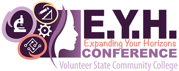 The 3rd Annual Expanding Your Horizons Conference ... will be held at on Saturday 10/06 at Vol State beginning at 8 AM and ending at 3 PM.  Girls in 5th through 9th grades may attend.  Registration begins in August.  Go to Expanding Your Horizons to learn more.  (06/21)
